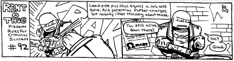 Rent-A-Thug #127 – Rules For Criminal Success #92